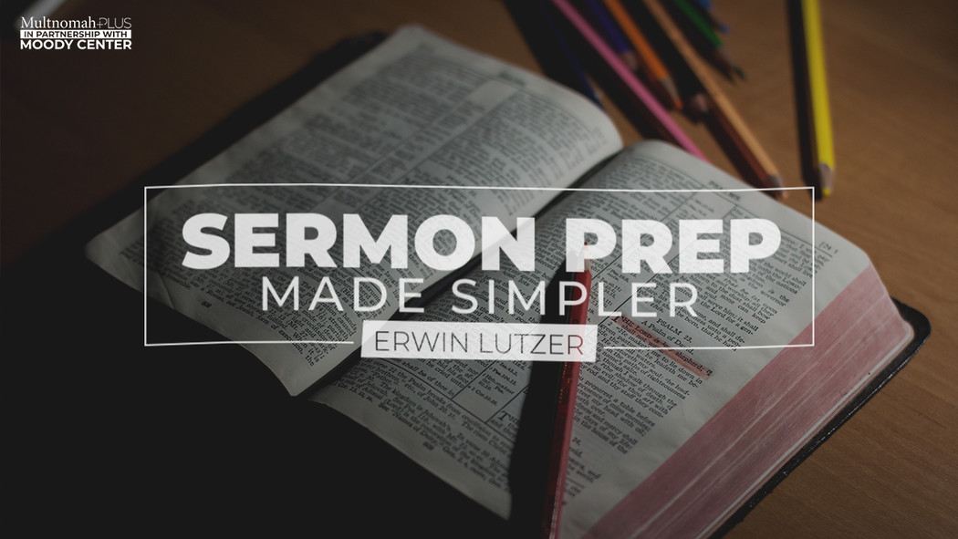Online Course: Sermon Prep Made Simpler