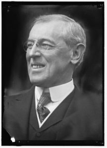 President Woodrow Wilson in 1914, from the Harris & Ewing collection at the Library of Congress.