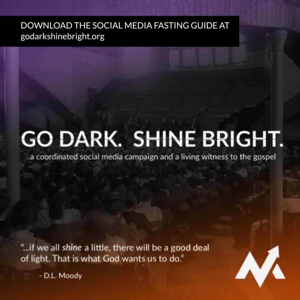 Go Dark Shine Bright social media image